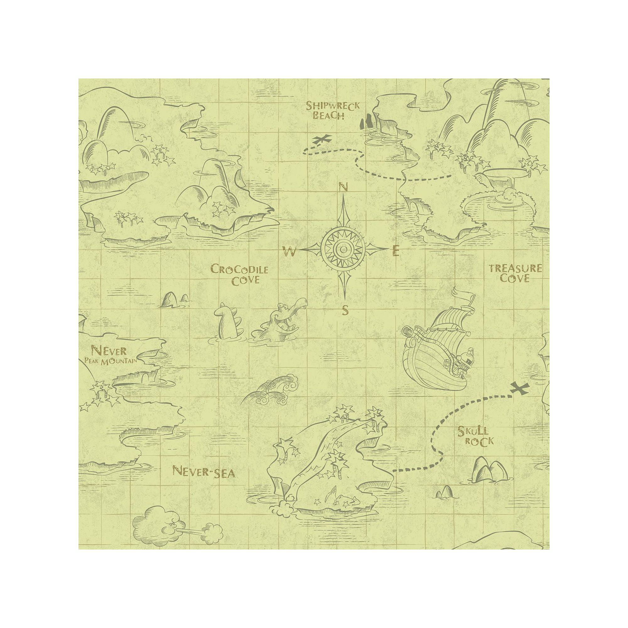 Disney\'s Jake and the Never Land Pirates Map Removable Wallpaper ...