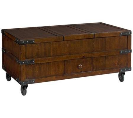 Hammary Hidden Treasures Trunk Cocktail Table | 55DowningStreet.com