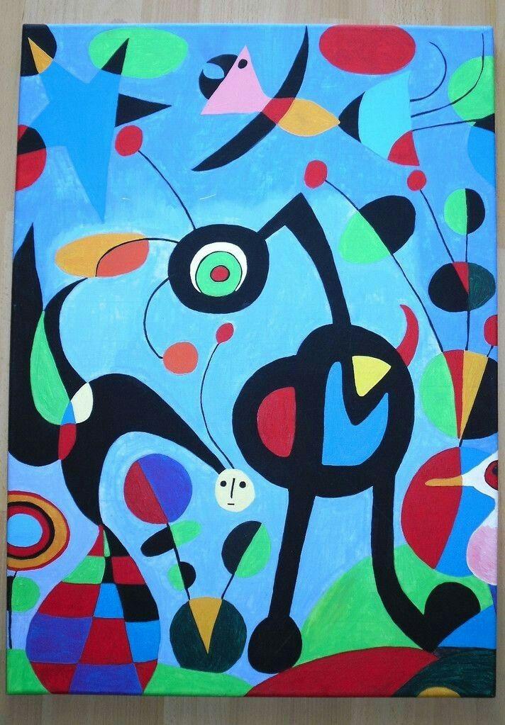 Pin di beth hollis su artist: joan miro | Arte di bambino ...