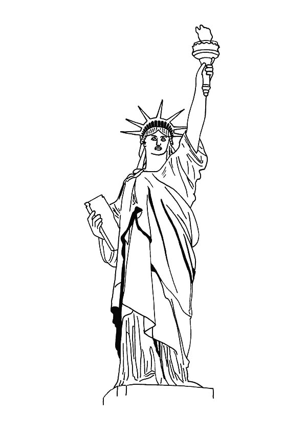 New York Statue Of Liberty Coloring Page Download Print Online Coloring Pages For Free Color Nimbus Flag Coloring Pages New York Statue Coloring Pages