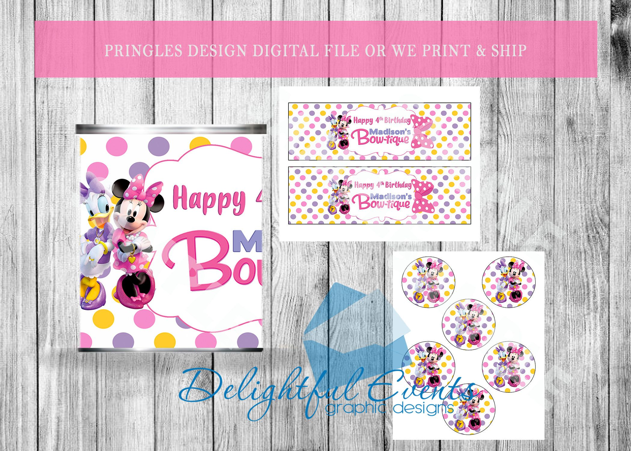 Minnie S Bowtique Personalized Pringles Labels By