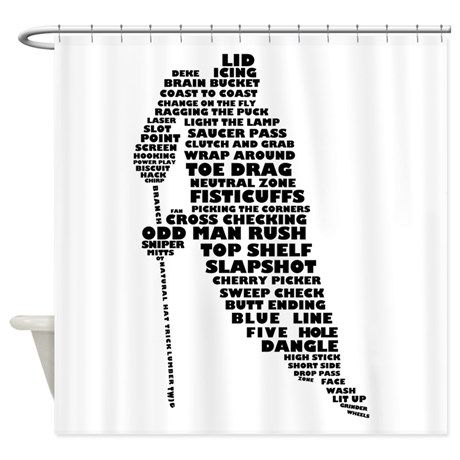 Language Of Hockey Skater Shower Curtain By Brando Cafepress