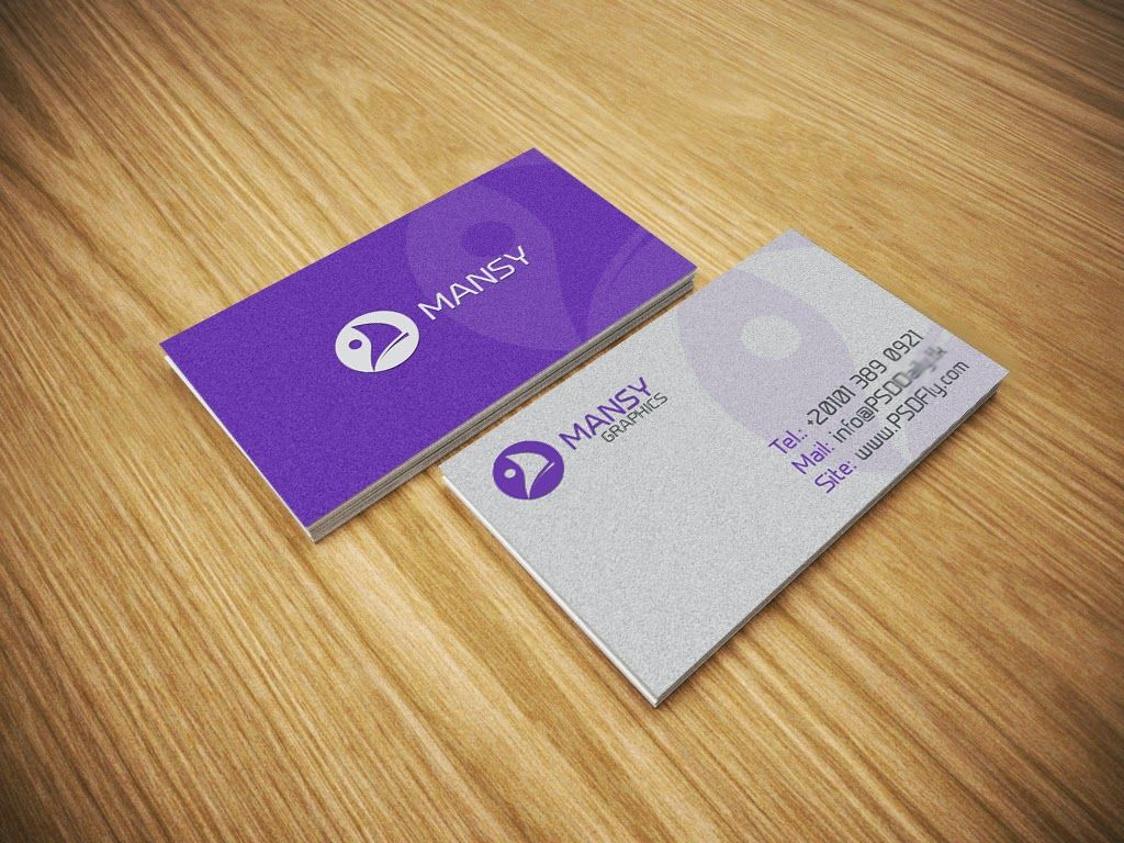 Free PSD Business Card Mockup PSD Fly Download Free