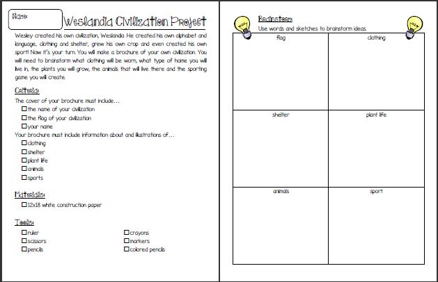 Ms Winston S Blog Weslandia Brochure Project Elementary School Counseling Grade 6 Social Studies Student Teaching
