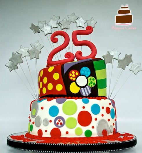 Colorful Birthday Cake for Adults