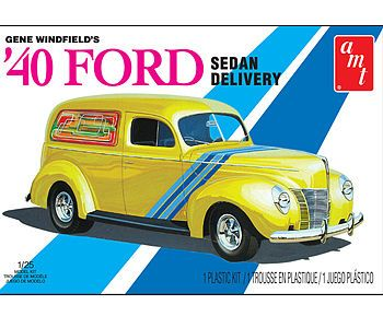AMT/ERTL Gene Winfield 1940 Ford Sedan Delivery -- Plastic Model Vehicle Kit -- 1/25 Scale -- #769