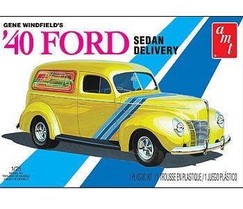 AMT/ERTL Gene Winfield 1940 Ford Sedan Delivery -- Plastic Model Vehicle Kit -- 1/25 Scale -- #769