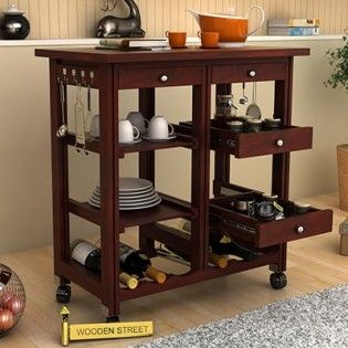 Modular Kitchen Trolley Amazing Kitchen Trolley Online In India At Best From Wooden Street Kitchen Trolley Modern Wooden Kitchen Wooden Kitchen Furniture
