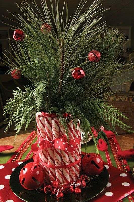 Deco En Rouge Et Blanc Combinaison Classique Pour Noel Avec
