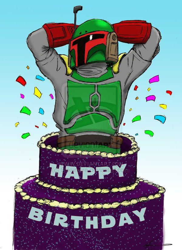 Boba Fett Birthday Cards Star Wars Birthday Birthday Star Birthday Cards