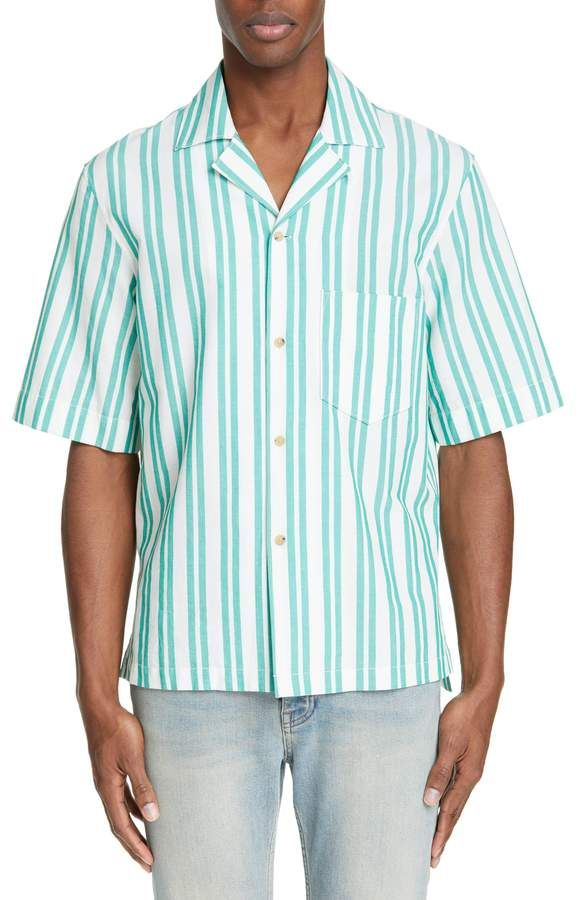 eff1cb082fa03c Acne Studios Textured Stripe Camp Shirt in 2019 | Products | Acne ...