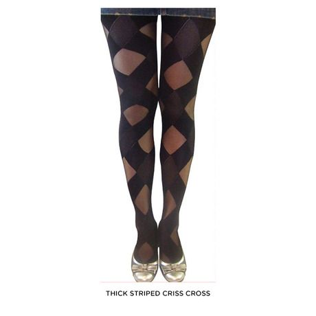 2 Pairs: Funky Fashion Tights - Assorted Styles & Extended Sizes at 75% Savings off Retail!