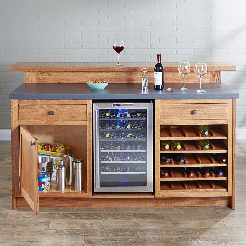 Party Central Home Bar Woodworking Plan From Wood Magazine