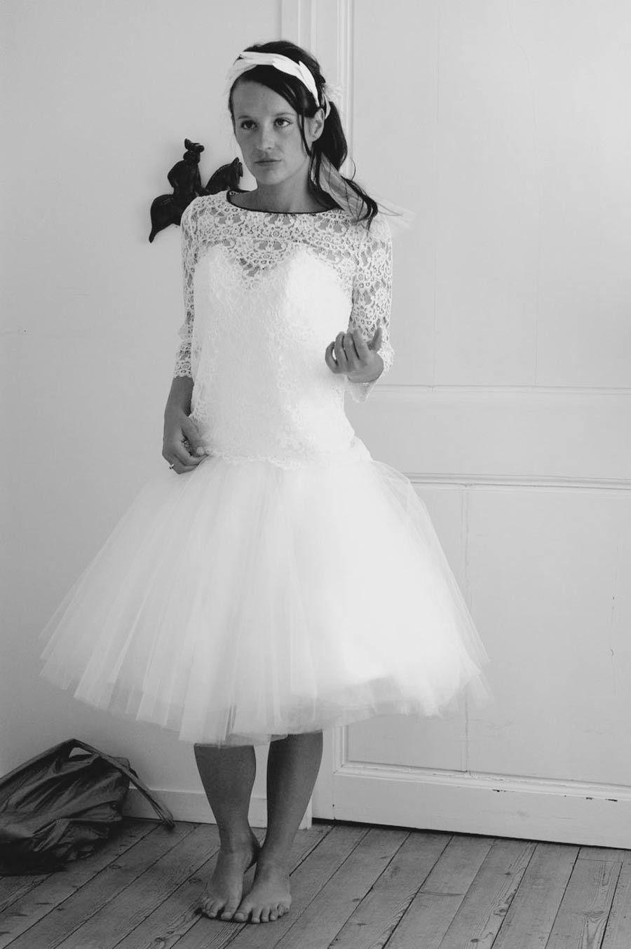 Wedding dresses on short brides  Our Brides  Tailormade Wedding dress  Silvène Hédon
