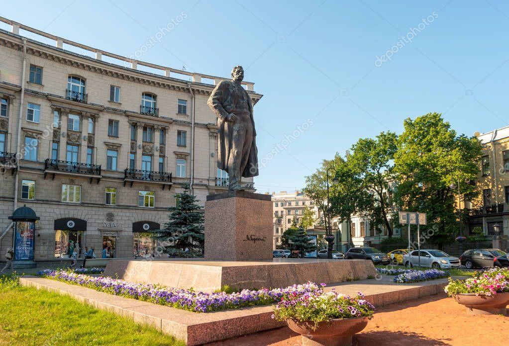 Saint Petersburg Russia June 2019 Monument Writer Maxim