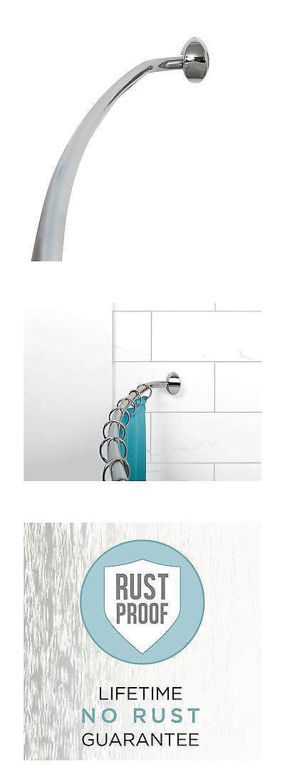Shower Curtain Rods 168132: Zenna Home E35603ss01 Neverrust Aluminum Curved  Shower Curtain Rod 44 To