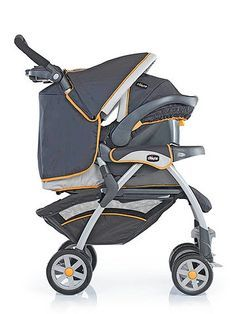Chicco's Cortina Travel System, is deluxe. The stroller can be folded with one hand and has all-wheel suspension and an adjustable leg rest for comfort. Its KeyFit car seat has LATCH finders and a one-pull tightening strap for no-hassle installation ($280).