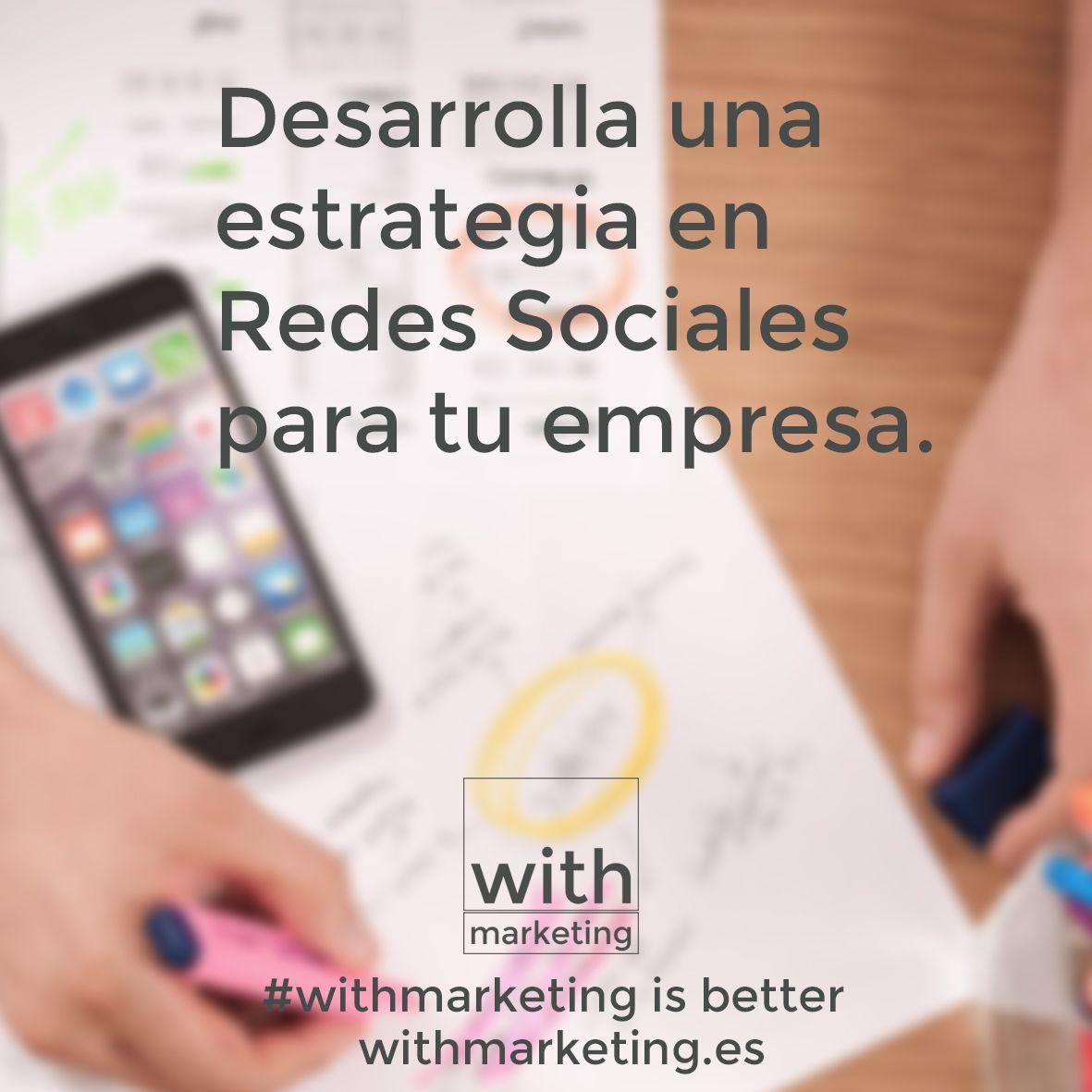 Redes Sociales para empresas #withmarketing #RedesSociales #SocialMedia #marketing #twitter #facebook #linkedin para #empresas