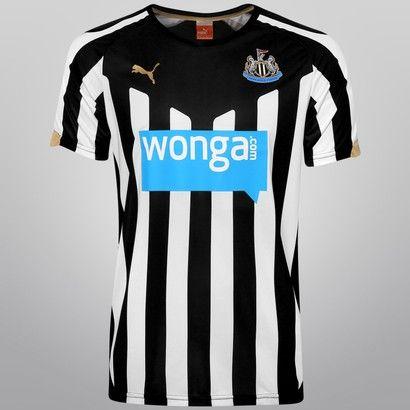 0102fe1277942 Camisa Puma Newcastle United Home 14 15 s nº - Preto+Branco ...