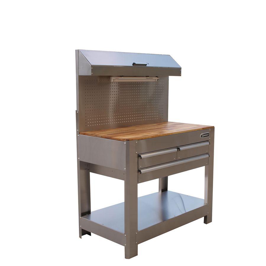 Astonishing Shop Kobalt Stainless Steel Heavy Duty Workbench At Lowes Beatyapartments Chair Design Images Beatyapartmentscom