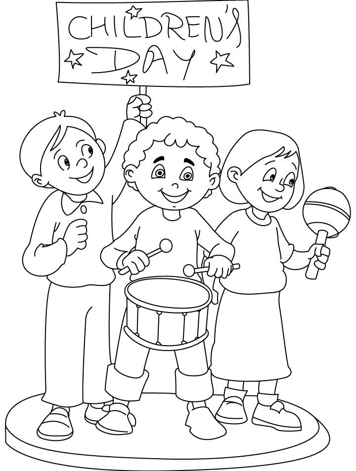 Printable Happy Children S Day Coloring Pages Childrens