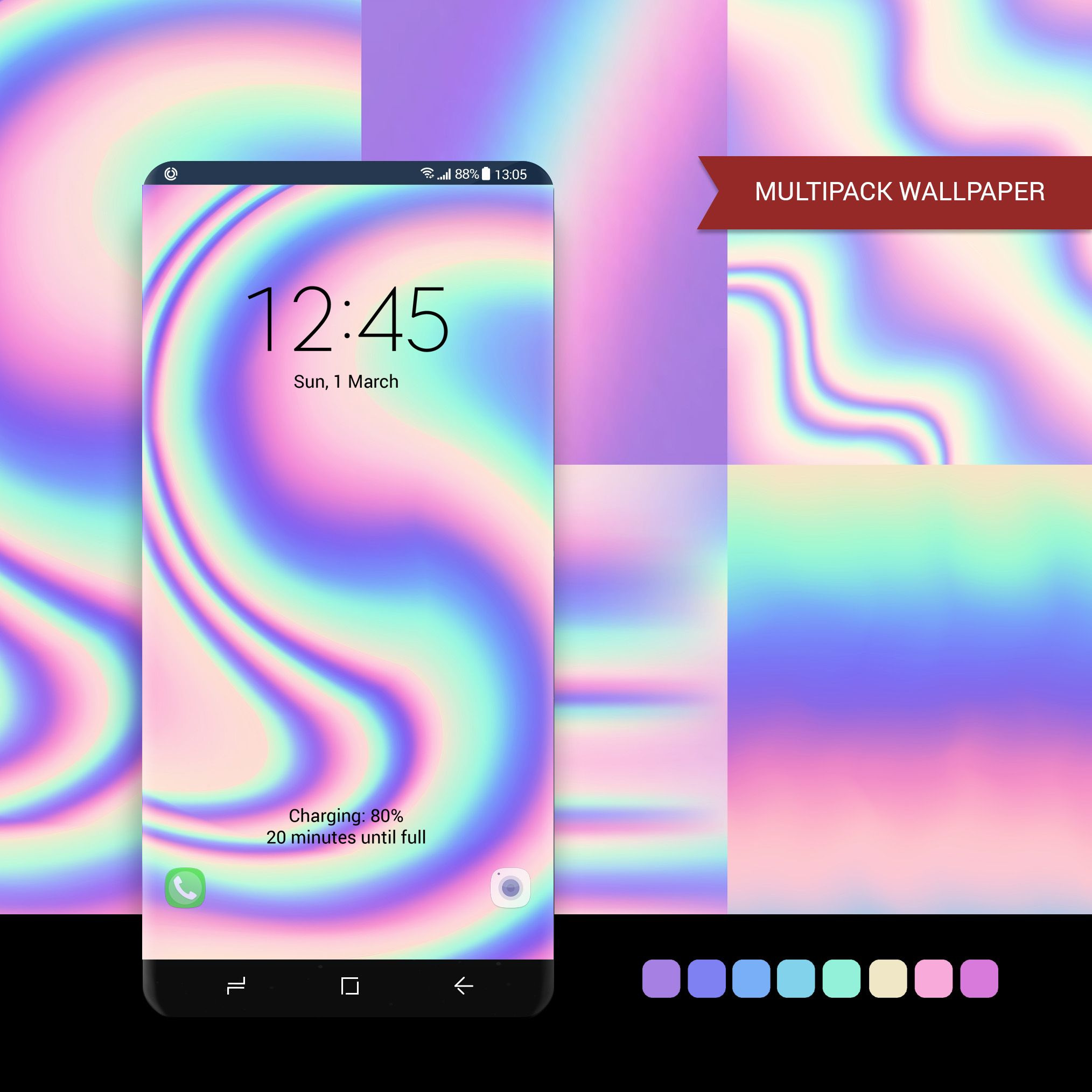 Holographic Wallpaper Multipack Wallpaper Android Phone