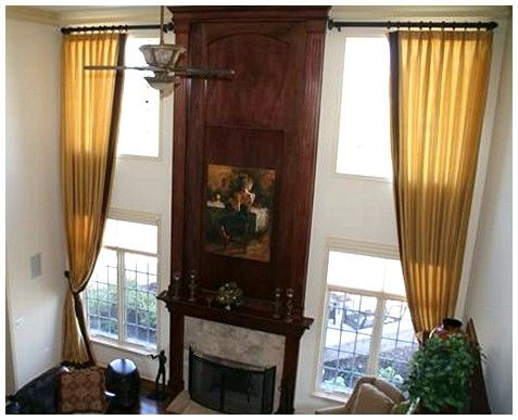 ideas living room furniture layouts grey and blue decor best 25+ tall window treatments on pinterest | long ...