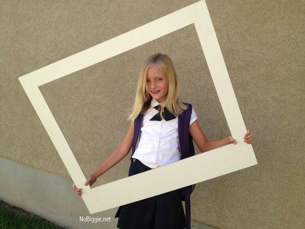 Make Your Own Giant Polaroid Frame Party Ideas Polaroid Frame