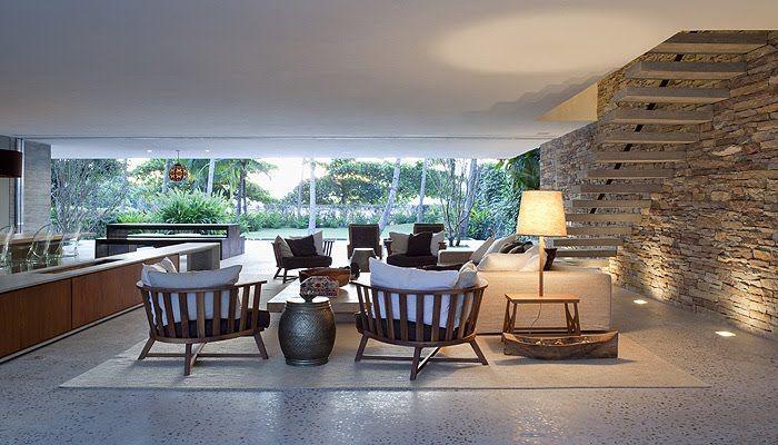 Una bella casa en Ilhabela, por Marcio Kogan diseño de interiores