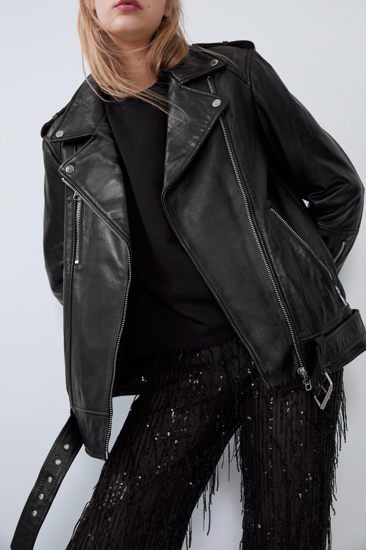 Oversized Leather Jacket Jackets Woman Zara Canada Zara Leather Jacket Leather Jacket Leather Jackets Women [ 2880 x 1920 Pixel ]