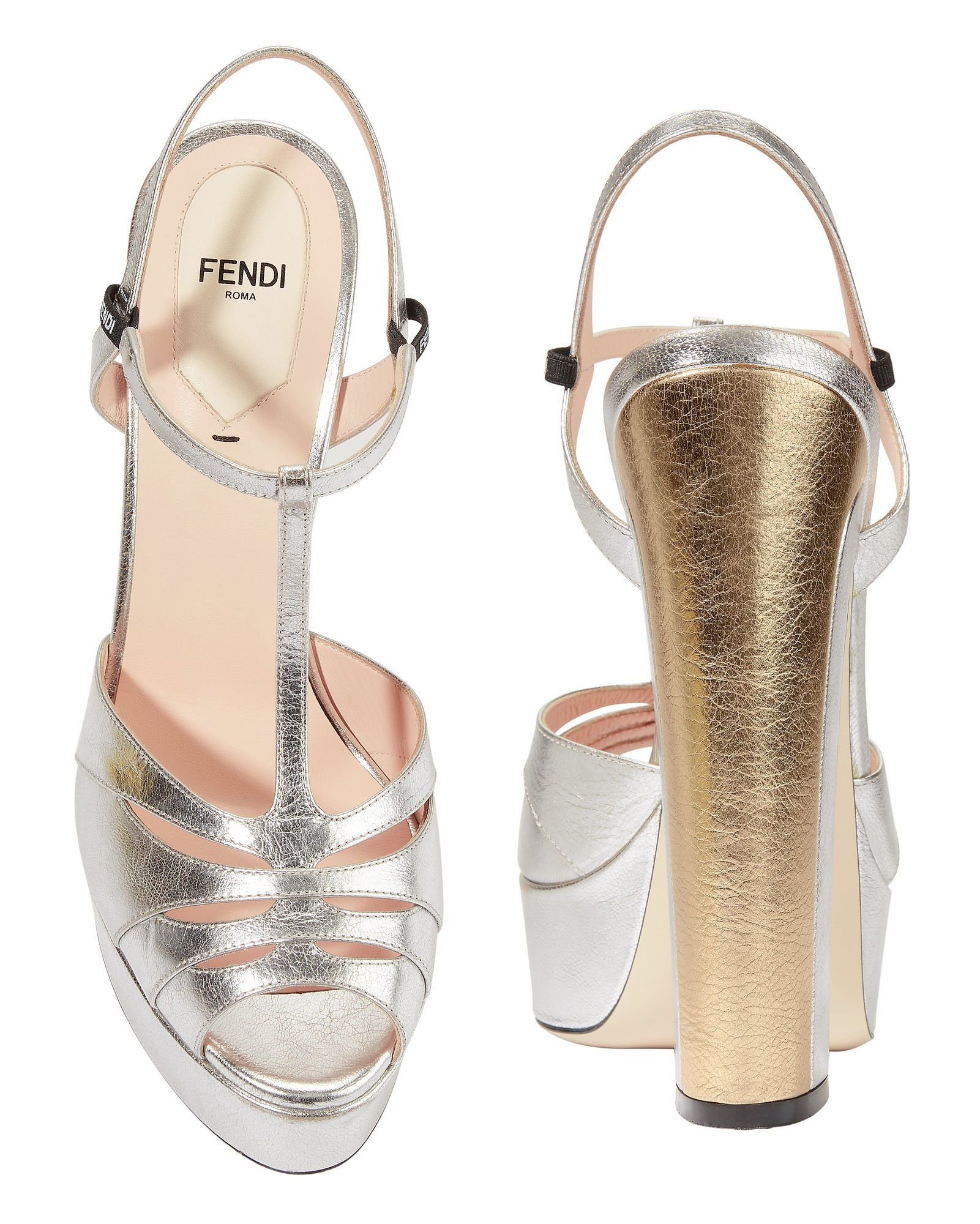 d4e392a42109 Fendi Duo Platform Heel A color blocked heel furthers the  attention-grabbing style of these