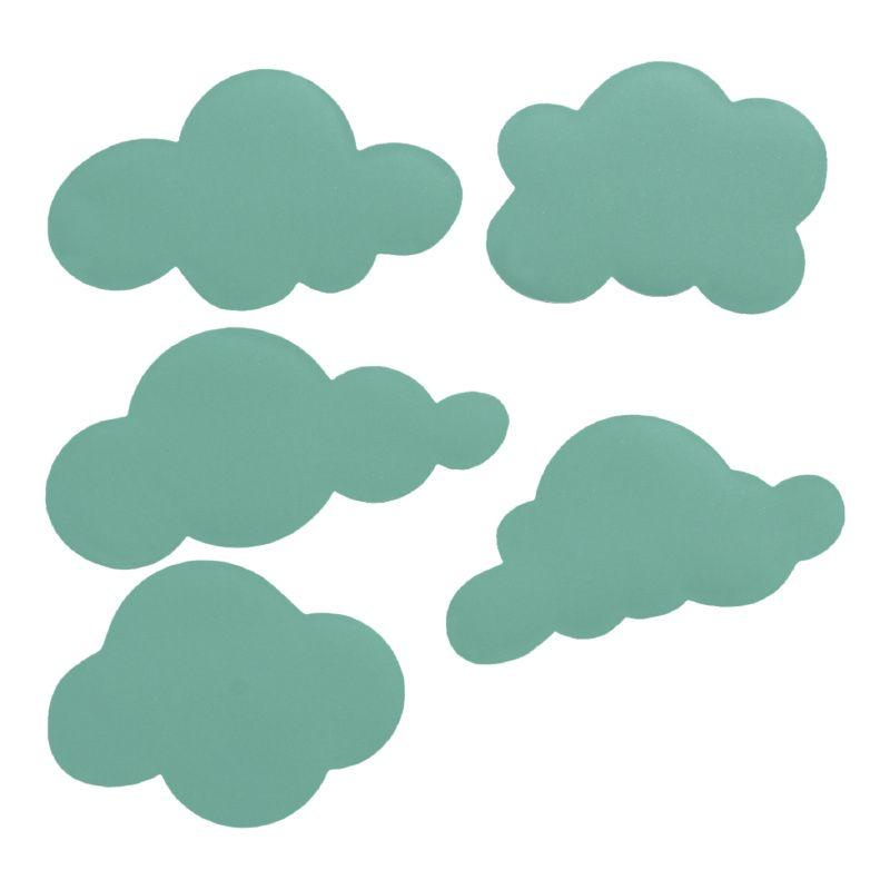 Muurstickers wolken in mintgroen mint wolk wolkje stickers ...