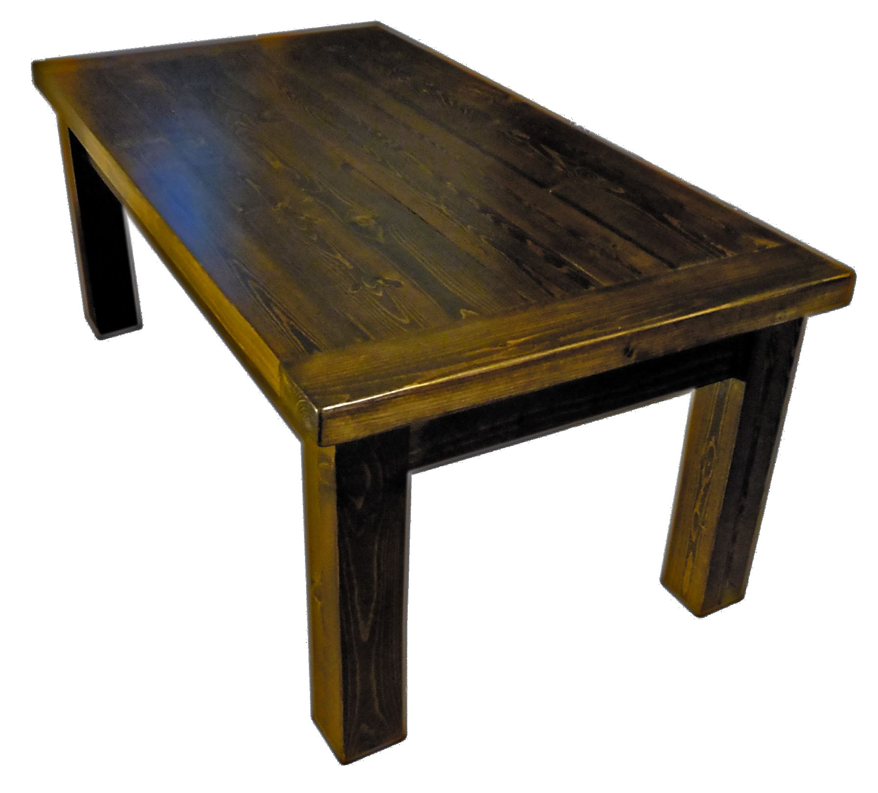 Rustic planked coffee table Constructed from custom ripped 2x6 SPF