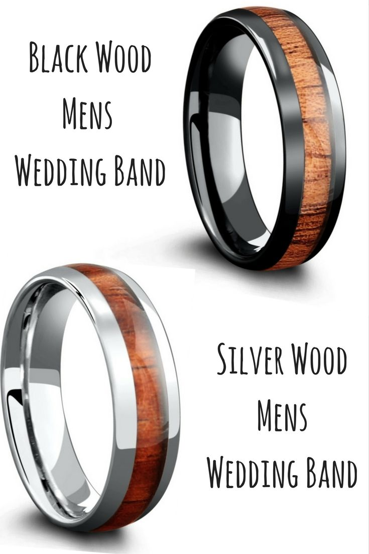 Wood Wedding Bands Made With 100 Genuine Koa These Make Such Unique Mens: Wood Wedding Band Made At Websimilar.org