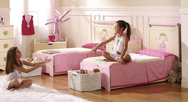 Decoracion cuarto dos camas ni as buscar con google - Habitacion dos ninas ...