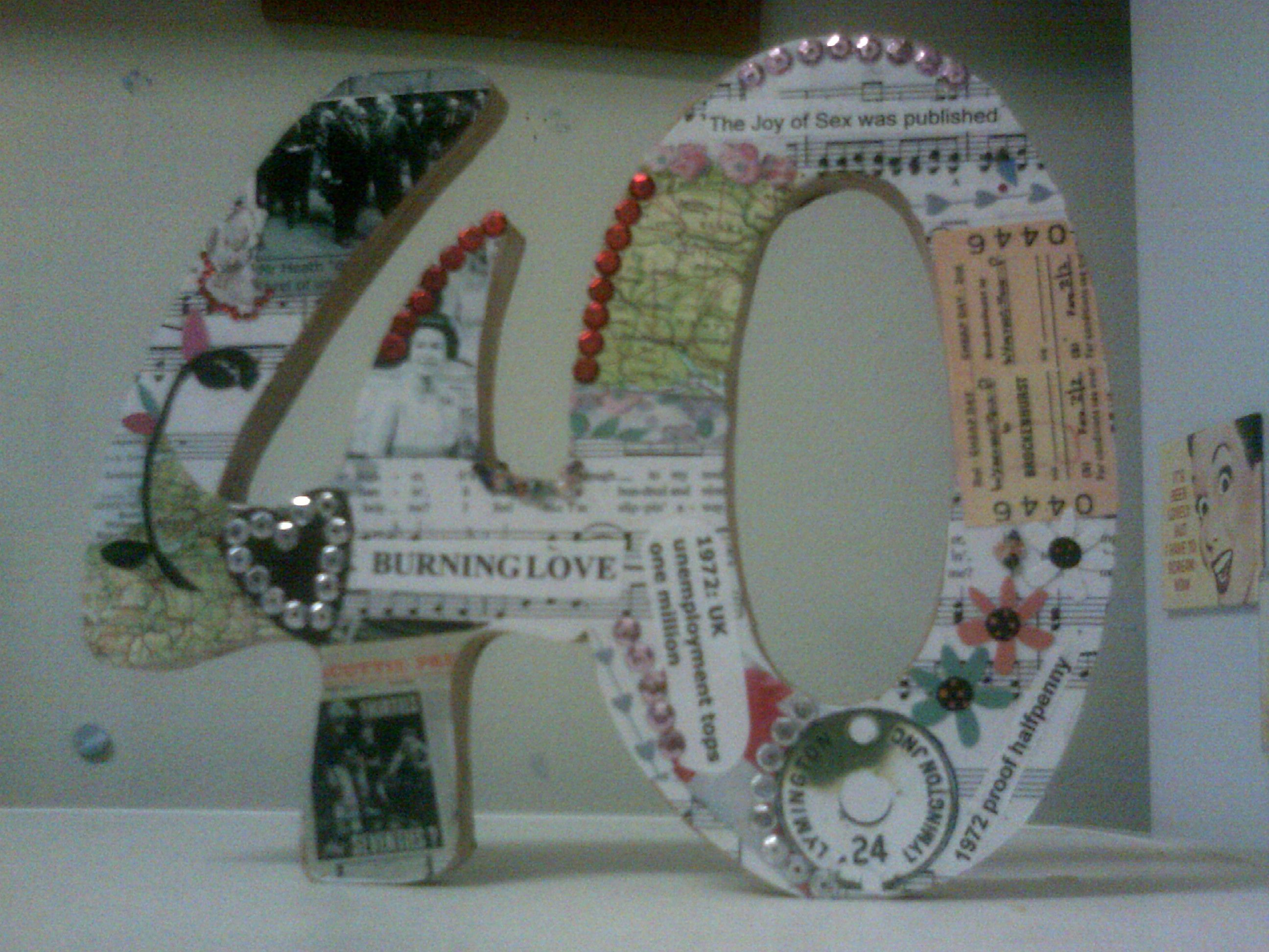 Unique Ruby Wedding Anniversary Gifts: Collage Made Up Of The Things That Happened The Year They