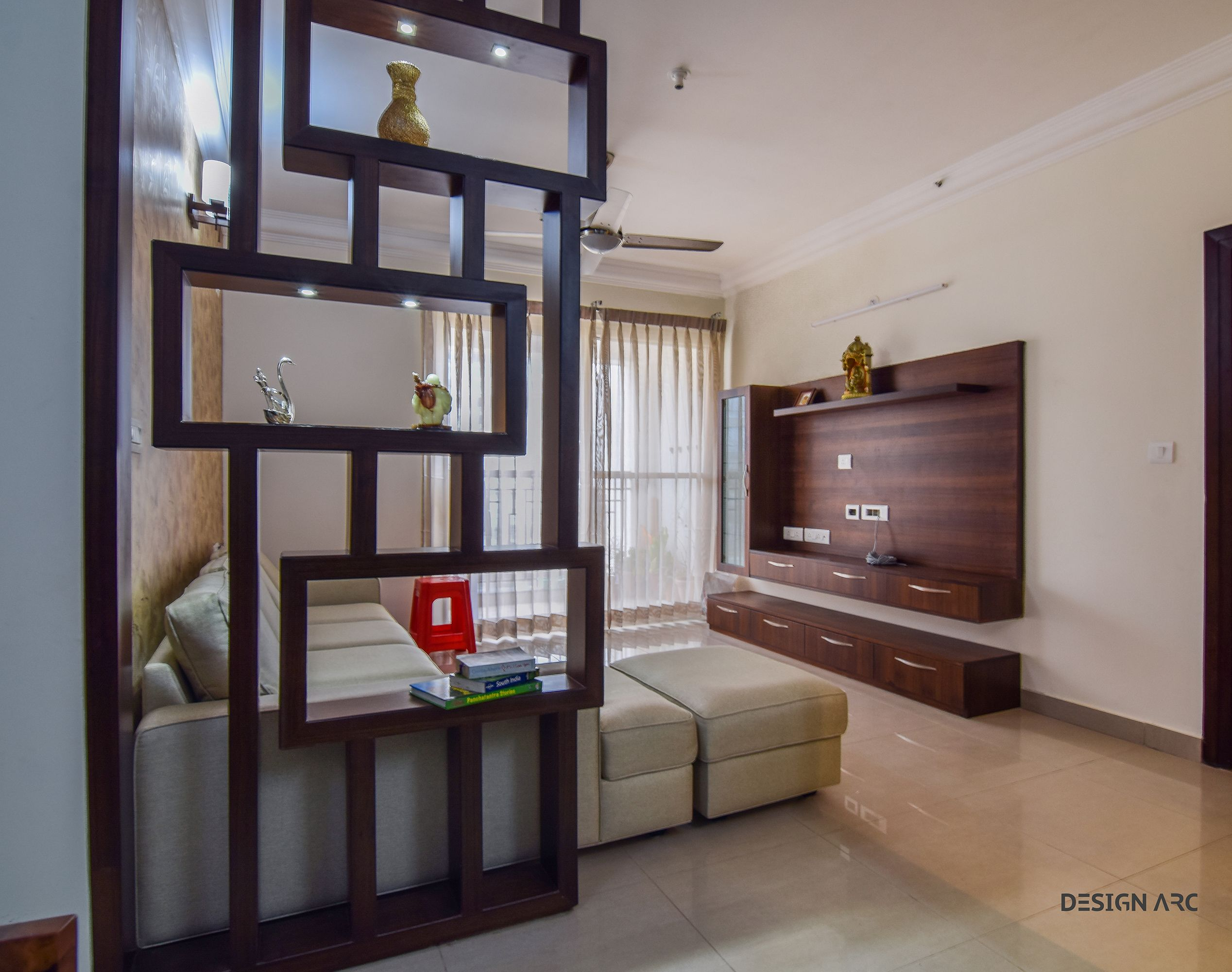 Interior design bangalore tv unit design concept living for Apartment design concept