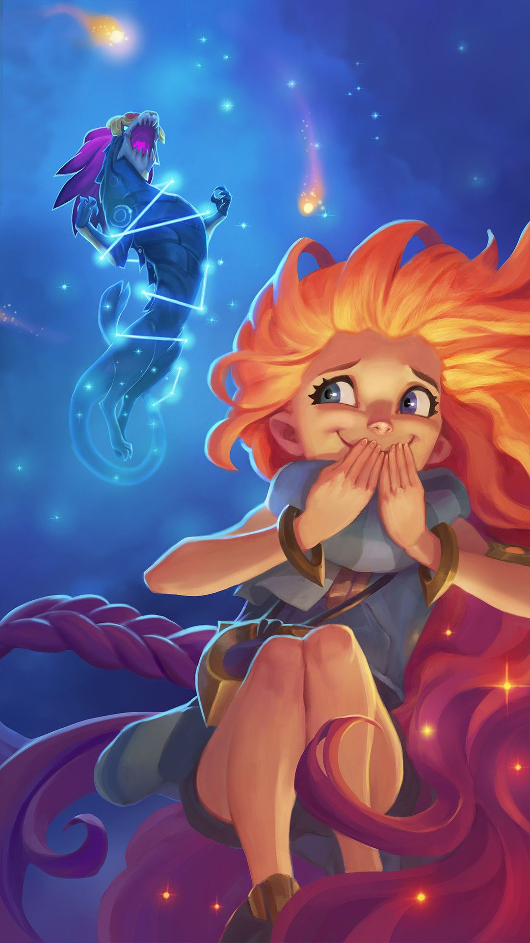 My Illustrations For The New League Of Legends Champion Zoe