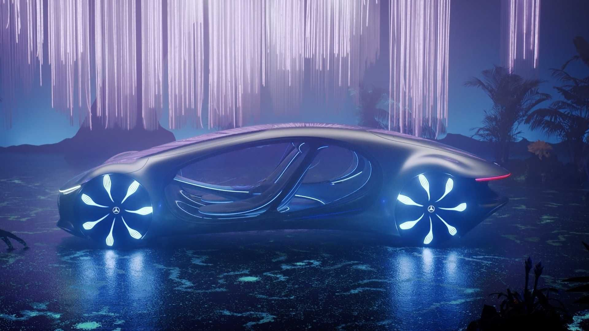 Highly Grossing James Cameron Movie The 2009 Avatar Inspires Mercedes Benz To Make A Concept Car The Vision Avtr We Get It All St In 2020 Mercedes Benz Mercedes Benz