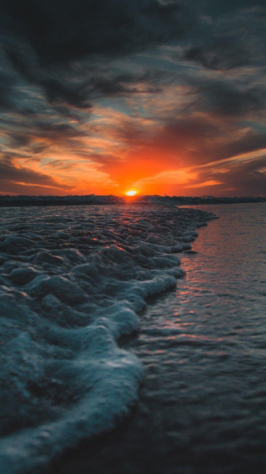 Sunset In The Beach Sunset Wallpaper Beach Sunset Wallpaper