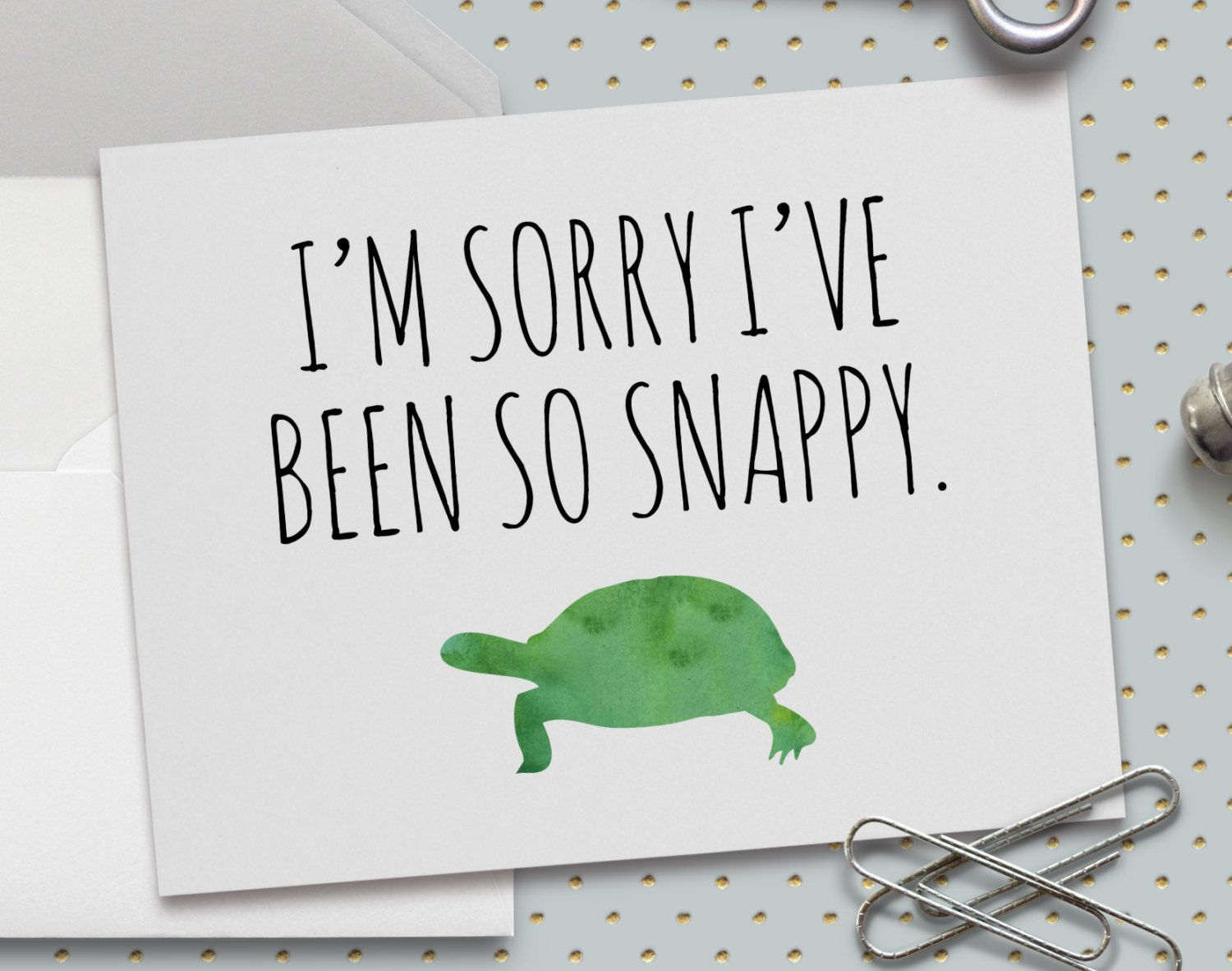 Cute apology card im sorry ive been so snappy snapping turtle 55 cute apology card im sorry ive been so snappy snapping turtle 55 kristyandbryce Gallery