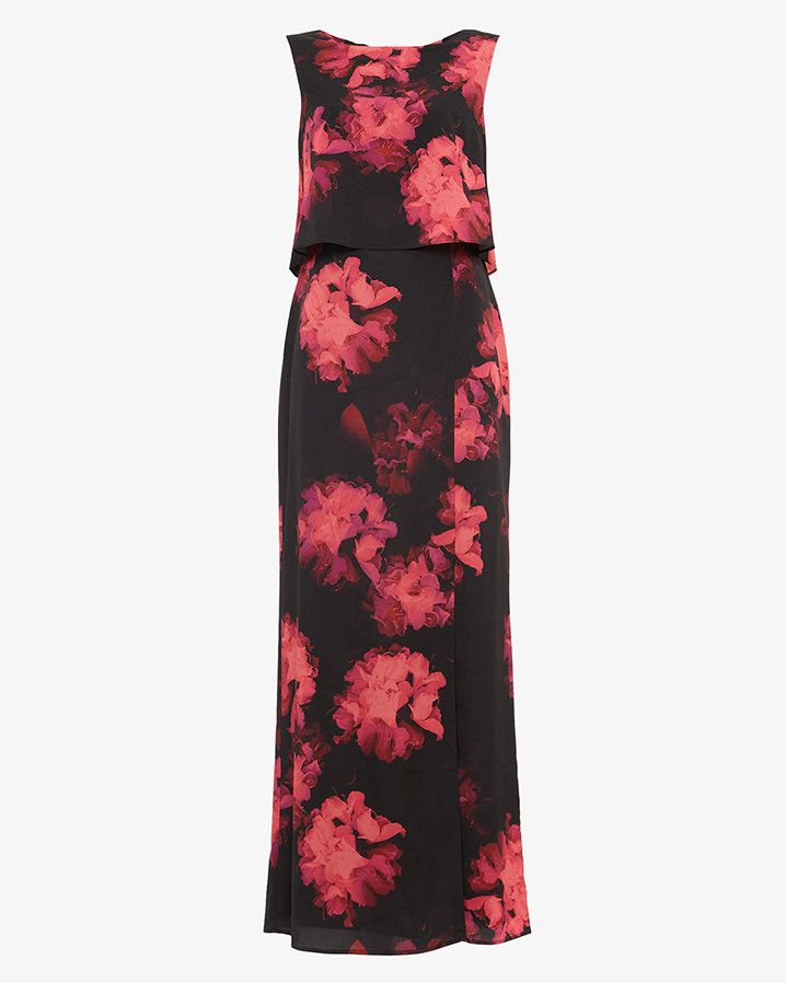 81976332681 Phase Eight Ali Floral Printed Maxi Dress Black