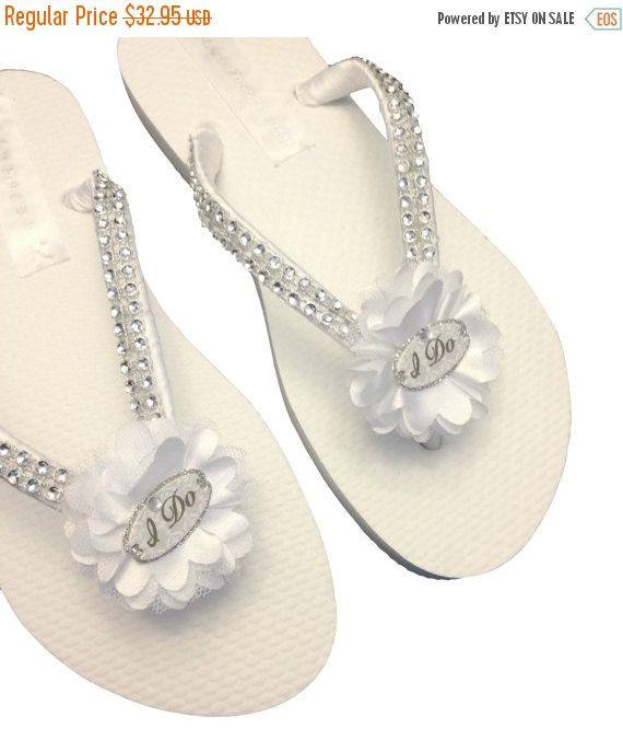 d115003499ae Bridal Flip Flops - Wedding White Flip Flops - I Do Flip Flops ...