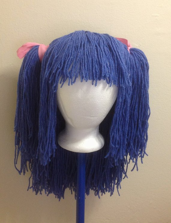 Handmade Crochet yarn Hair wig f99a0926a3