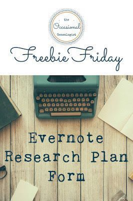 genealogy research plan template the evernote research plan with analysis template. Black Bedroom Furniture Sets. Home Design Ideas