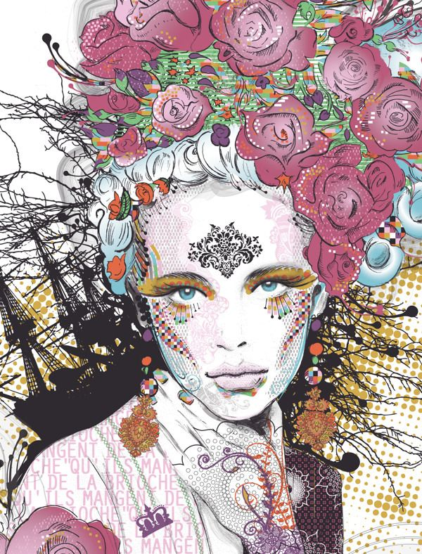 Marie-Antoinette, Personal Work by CATHERINE MAROUSSIS, via Behance