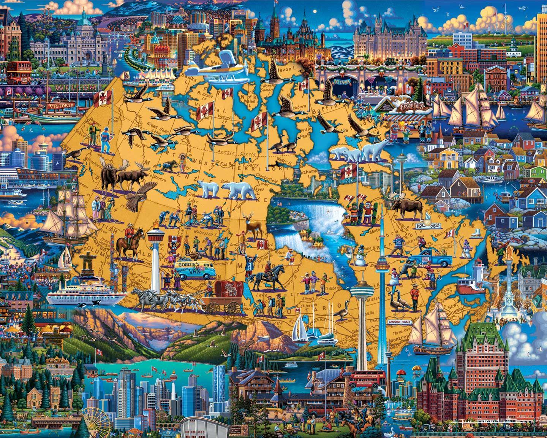 Best of canada fine art puzzle art isometric art art