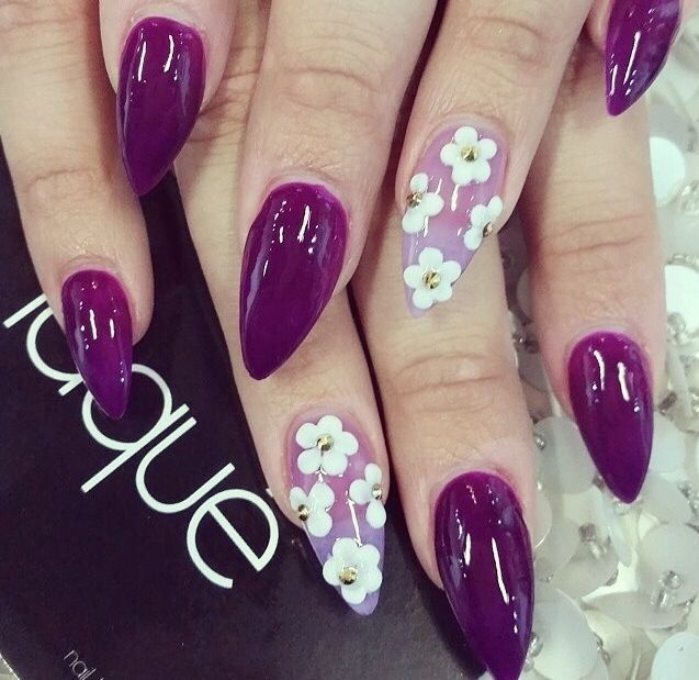 not a big fan of the pointed nails but love the color - D077e9dc31fcdbd40ae2b21f7ff867f2.jpg 637×619 Pixels Fun Nails