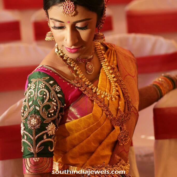 South Indian Wedding Jewellery Design South indian bride South