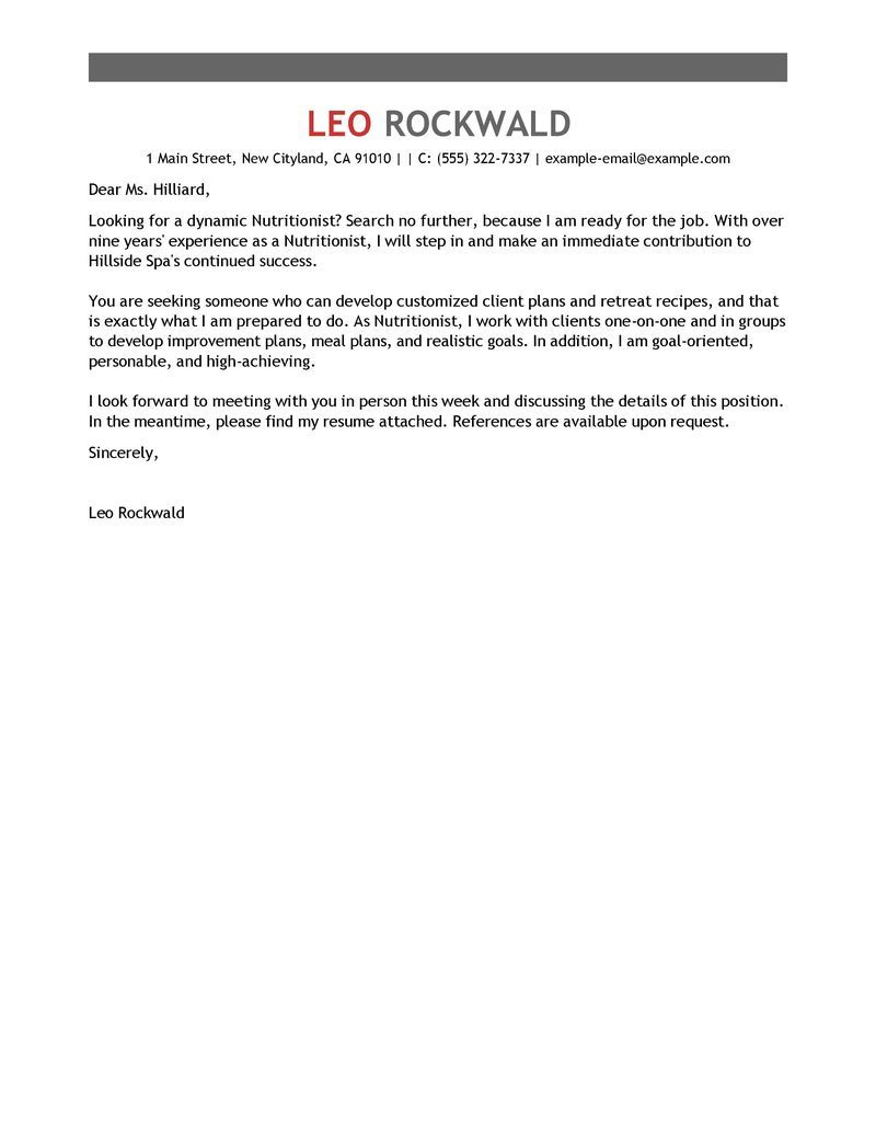 Cover Letter Template Project Manager | Cover letter example ...
